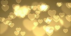 Golden Hearts - a waterfall of love