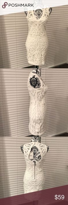 Bardot Australia white lace dress gorgeous NWT 6 One of those you keep with hope you will weight to war it 😂 it's absolutely fantastic dress! Bardot Dresses Mini