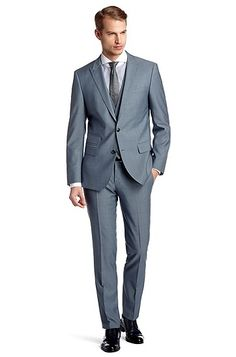 Slim fit business suit 'Hold1/Genius1 WE' by BOSS