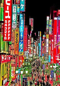 Enseignes lumineuses Japon