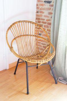 FAUTEUIL ROTIN ET METAL : en vente sur le site www.weartgalerie.com