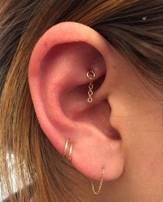 No, the nipple isn't the most in-demand piercing at the moment. Check out 11 reasons why you should consider getting a rook ear piercing. Ear Jewelry, Cute Jewelry, Body Jewelry, Jewellery, Jewelry Ideas, Jewelry Making, Cartier Jewelry, Jewelry Tray, Jewelry Dish