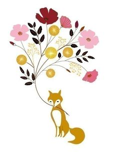 DG's room. Who doesn't love a bouquet bearing fox? Crazy people, that's who.