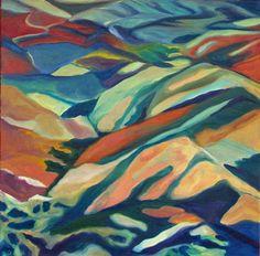 Original Fine Art Painting Mountain Landscape. Wow!