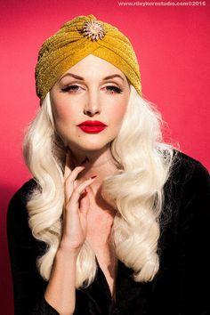 LANA TURBAN Gold Lurex Vintage Style Turban by ThePinkCollarLife