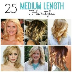 These 25 medium length hairstyles for women are so pretty, you'll want to copy all of them! There are styles for thick hair, with bangs and without, curly hair, for work or for the weekend.