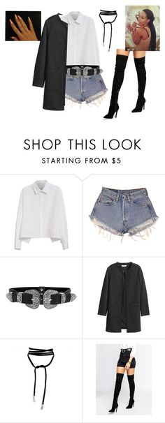 """""""Untitled #527"""" by uniquee28 on Polyvore featuring Y's by Yohji Yamamoto, Levi's, LULUS and Kendall + Kylie"""