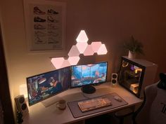 pc gaming setup for couples \ pc gaming setup _ pc gaming setup girl _ pc gaming setup desks _ pc gaming setup for couples _ pc gaming setup small space _ pc gaming setup ideas _ pc gaming setup pc gamer _ pc gaming setup man caves Gaming Computer Setup, Best Gaming Setup, Gamer Setup, Gaming Room Setup, Gaming Rooms, Computer Desks, Best Pc Setup, Bedroom Setup, Men Bedroom