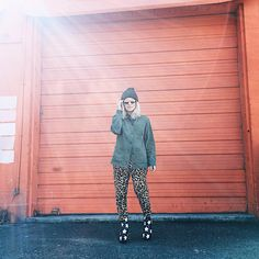 Why not mix leopard print pants with star patterned boots?!