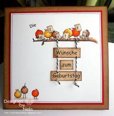 Nelasbasteleien: Birthday Card - For the Birds