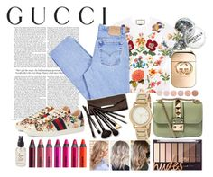 """""""Presenting the Gucci Garden Exclusive Collection: Contest Entry"""" by sukh-deol on Polyvore featuring Gucci, Levi's, Deborah Lippmann, Valentino, DKNY, Borghese, Olivine, Urban Decay and gucci"""