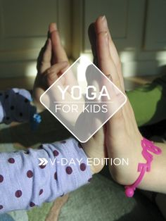 A lovely way celebrate Valentine's day! Partner yoga for little ones...