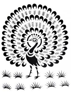 Motivos indianos Bird Stencil, Stencil Painting, Fabric Painting, Stencil Patterns, Stencil Designs, Embroidery Patterns, Peacock Drawing, Peacock Art, Bird Silhouette Art