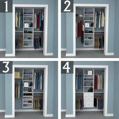 Reach In Closet Design Ideas: 6 Foot Closet
