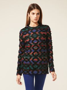 Printed Cut-Out Sweater by Proenza Schouler on Gilt.com