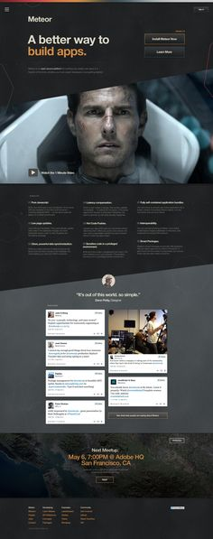 Dribbble - meteor_world_helvetica.jpg by Dann Petty Web Design Studio, Creative Web Design, Web Ui Design, Site Design, Branding Design, Gui Interface, Interface Design, Web Layout, Layout Design