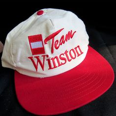 Vintage Team Winston Cigarettes Drag Racing Snapback Baseball Hat Cap OSFA Smoke #Winston #BaseballCap