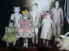 Crianças vestidas de Bonecas