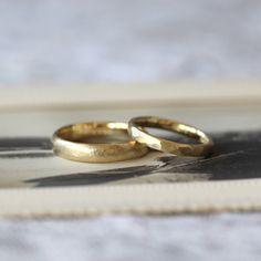 ゴールドの結婚指輪:ロチア・槌目春(オーダーメイド/手作り) #marriage #ring #wedding #マリッジリング #Gold