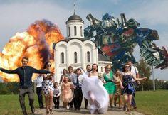 Ridicoli ritocchi foto matrimonio.