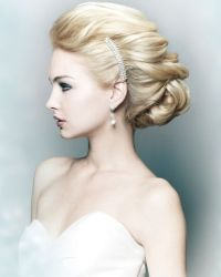 Classic and Formal Upstyle Wedding Hair-I like this, surprisingly enough.