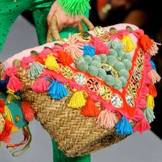 Colorfull beachbag | bohemain styling