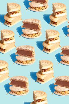 Sandviçlerin gerçek fotoğraflarıyla böyle bi texture oluşturmak
