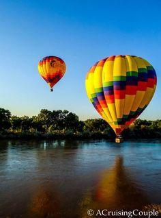 Sunday Snapshot | Hot Air Balloon Over the Rio Grande | Albuquerque, New Mexico - A Cruising Couple