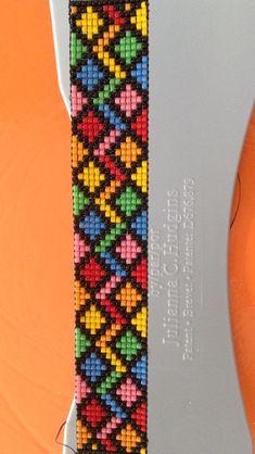 off loom beading stitches Loom Bracelet Patterns, Bead Loom Bracelets, Bead Loom Patterns, Beaded Jewelry Patterns, Friendship Bracelet Patterns, Beading Patterns, Bracelet Crochet, Bead Crochet, Bead Loom Designs