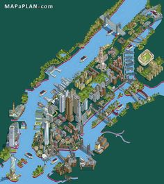 maps of new york city and manhattan top tourist attractions