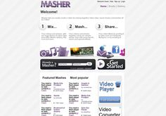 Masher -- Masher lets you easily create a video by mixing together video clips, music tracks, and photos all for FREE -- http://masher.com