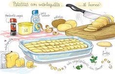 Patatas con mantequilla al horno