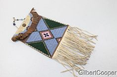 BEADED AND FRINGED DISPATCH BAG in Collectibles, Cultures & Ethnicities, Native American: US, 1800-1934, Other Nat. Am. Items 1800-1934 | eBay