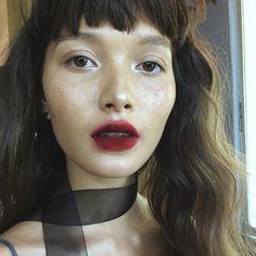 blotted lip