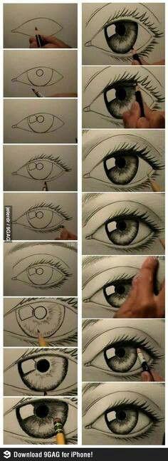 Drawing an eye - een oog tekenen