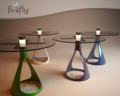 Firefly Solar Lamp Table by Vuk Dragovic. Love this idea for up-and-coming restaurants, or even a patio!