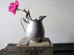 Vintage+Aluminum+Water+Pitcher+Cottage+Chic+by+TheRustyScarecrow,+$15.25