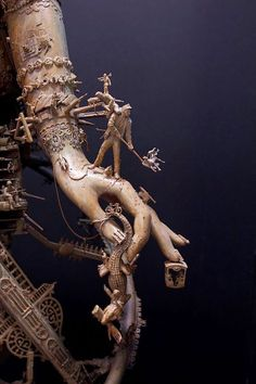 Close up look at one of kris kuksi's assemblages