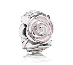 Pandora Pink Rose Charm 791291EN40 at John Greed Jewellery
