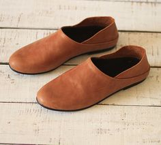 Handmade Flat Shoes for Women Casual Shoes Soft Shoes by HerHis $79.00