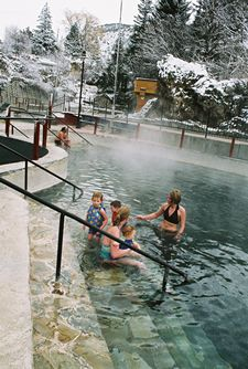 (IDAHO) Lava Hot Springs  Two and half million gallons of natural, sulfur-free mineral water flow through these pools everyday.