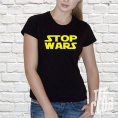 Stop wars star wars Tshirt peace vader use the force by TeeClub