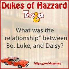 """What was the """"relationship"""" between Bo, Luke and Daisy? #DukesofHazzard"""
