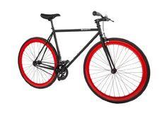 nice Pure Fix Cycles Fixed Gear Single Speed Urban Fixie Road Bike, 47cm/ X-Small, Echo Black / Red