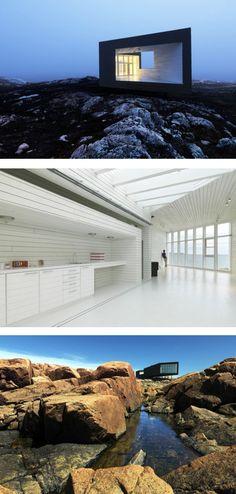 Todd Saunders, île de Fogo, Canada. Art Et Architecture, One Pic, Villa, Exterior, Tours, Island, Studio, World, Beach
