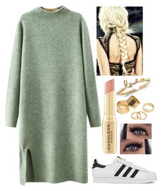 """Grey Dress"" by maffiledesma1d ❤ liked on Polyvore featuring Chicnova Fashion, adidas, Napoleon Perdis, Pieces, women's clothing, women, female, woman, misses and juniors"