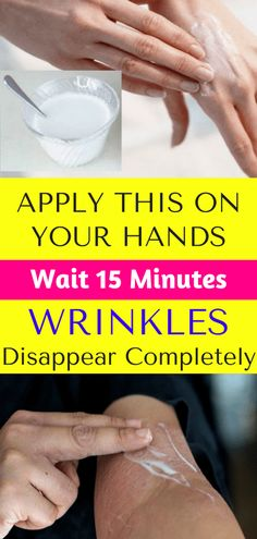 Apply This On Your Hands. Wait 15 Minutes & Wrinkles Disappear Completely – He. - Care - Skin care , beauty ideas and skin care tips Healthy Beauty, Healthy Tips, Health And Beauty, Healthy Food, Healthy Grilling, Happy Healthy, Stay Healthy, Healthy Smoothies, Grilling Recipes