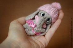 Купить Слоняша - серый, слоник, слоник тедди, авторская игрушка, ручная работа, тедди, пряжа