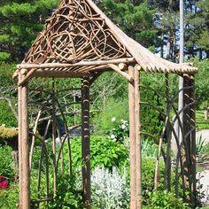 Artist Daniel Beirne creates beautiful garden twig structures