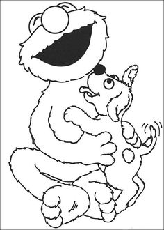 sesame street coloring pages for kids 25